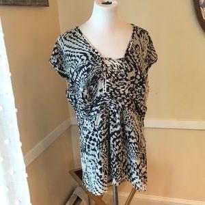 NWOT Alfani Lined Dressy Top Size 16. Embellished!
